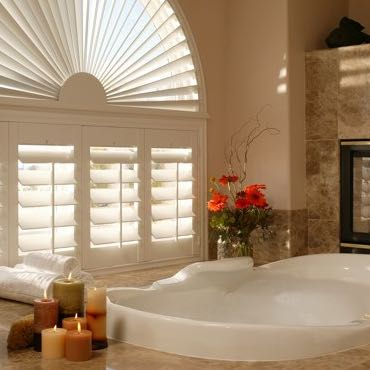Philadelphia bathroom plantation shutters.