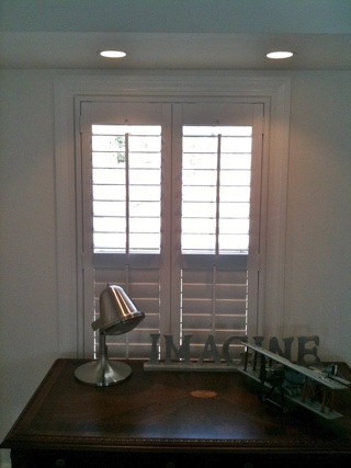 Cafe Style Shutters With Divider