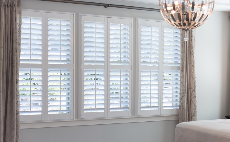 Philadelphia plantation shutters bedroom