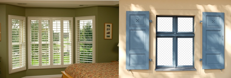 Philadelphia PA outdoor and indoor shutters