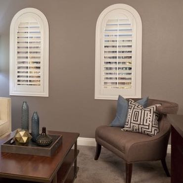 Philadelphia family room interior shutters.