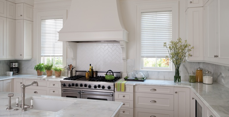 Philadelphia kitchen white blinds
