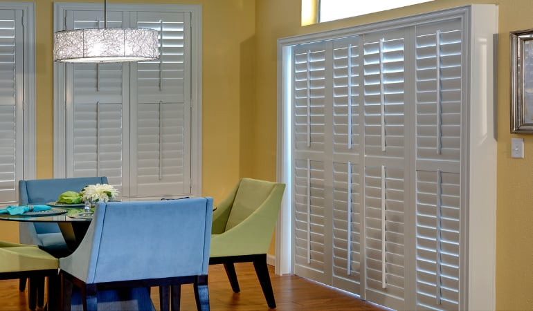 Patio Doors with Plantation Shutters in Philadelphia
