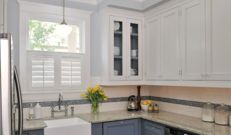 Polywood shutters in a Philadelphia kitchen.