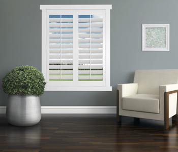 Polywood Shutters in Philadelphia living room