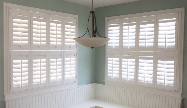 Philadelphia plantation shutters in booth