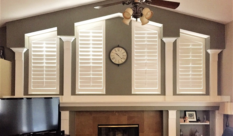 Polywood Shutters in Family Room in Philadelphia