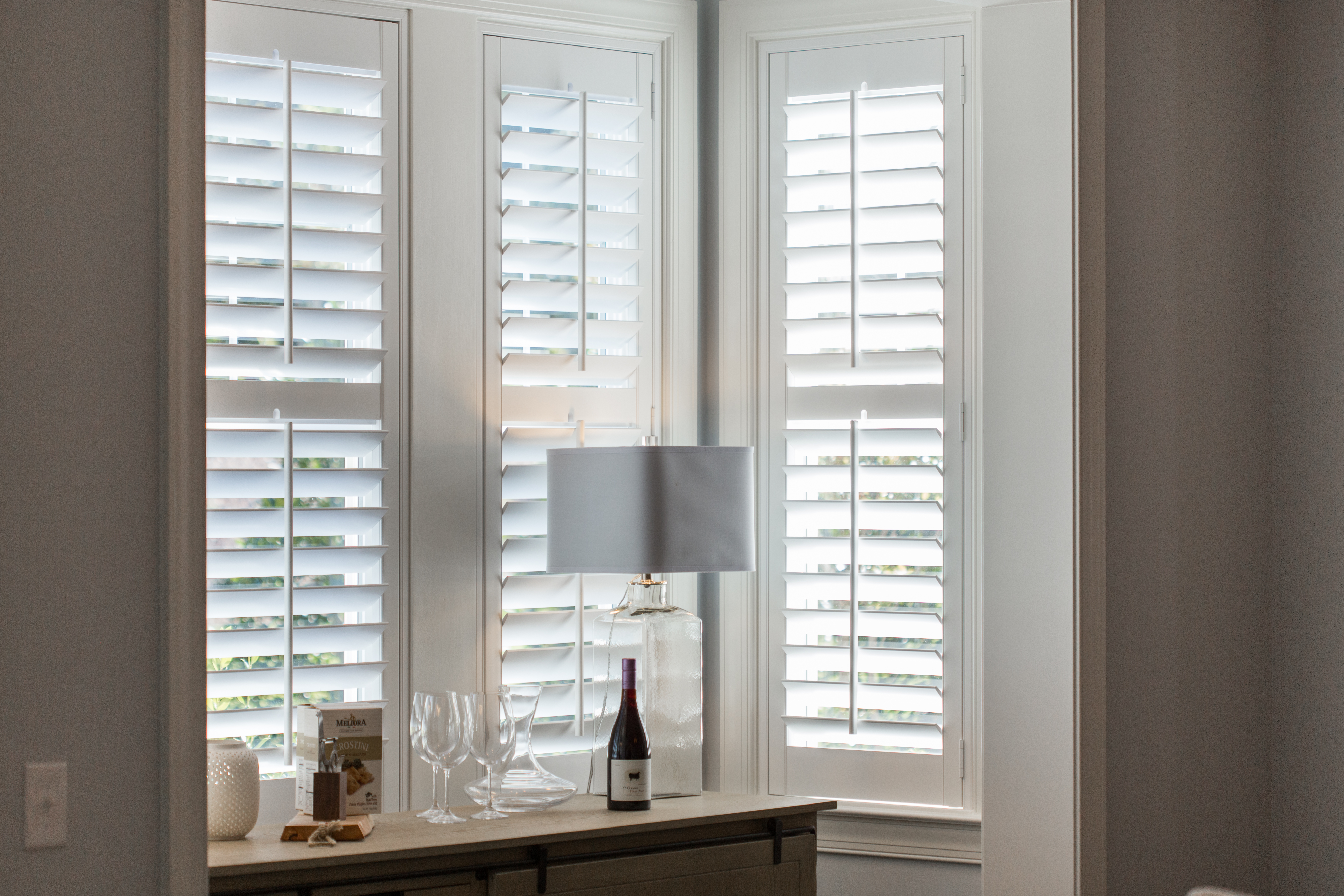 Polywood shutters in Philadelphia alcove.