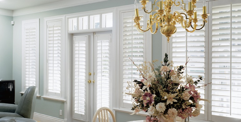 Philadelphia sunroom polywood shutters