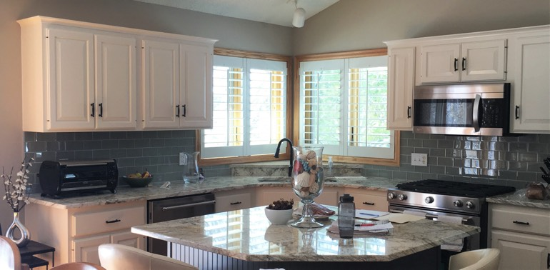 Philadelphia kitchen with shutters and appliances