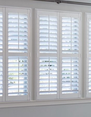 Hidden tilt rod shutters on Philadelphia windows