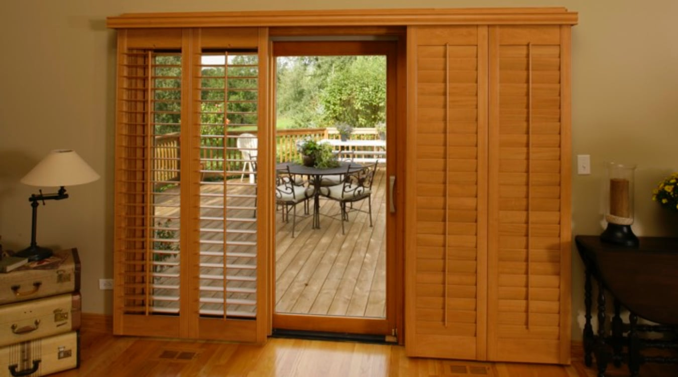 Sliding Glass Door Shutter In Philadelphia