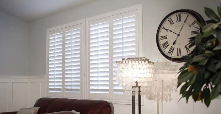 Philadelphia living room indoor shutters