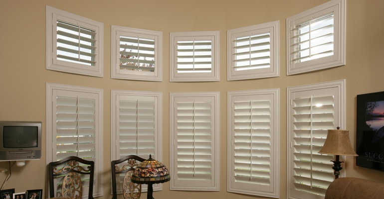 Bay window shutters Philadelphia home office