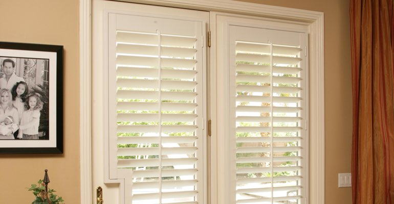 Philadelphia french door white shutters