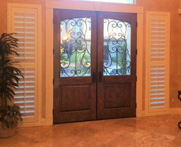 Philadelphia sidelight window treatment shutter