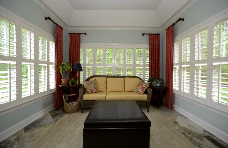 Plantation Shutters In A Philadelphia Sunroom